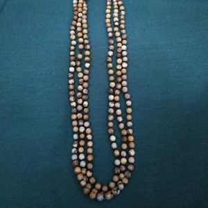 """72"""" wood look bead necklace"""